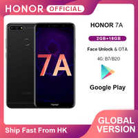 In Stock Honor 7A Global Version Smartphone Google Play 2GB 16GB Snapdragon 430 Octa Core 5.7 inch Front 8.0MP Rear 13.0MP