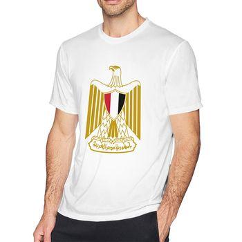 Camisetas para hombre, divertida camiseta Hipster con estampado de águila con bandera egipcia de Egipto a la moda, camiseta informal veraniega de calle para hombre, camiseta de hip hop, camiseta masculina