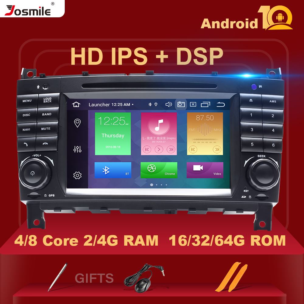 4GB 64G 2Din Android 10 Car <font><b>Radio</b></font> DVD GPS <font><b>Navi</b></font> For Mercedes/<font><b>Benz</b></font> <font><b>W203</b></font> W209 W219 A-C Class CLS C180C200 Vito Viano Multimedia DSP image