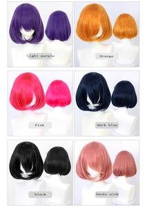 LUPU розовый, красный, черный, синий, фиолетовый, блонд, белый парик, женский короткий Боб, синтетический парик, Hellown, рождественские вечеринки, ...