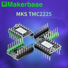 Makerbase peças da impressora 3d, peças do driver de motor de passo mks tmc2225 2225 ultra silencioso para sgen_l gen_l robin nano