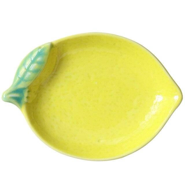 Купить тарелка в форме лимона керамическая тарелка миска для риса семейная картинки цена