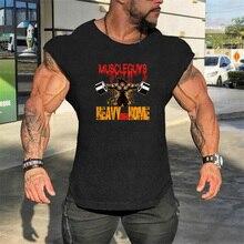 Gym Muscle Cotton Workout Vest Tank Tops Men Sleeveless Tanktops for Boys Bodybuilding Clothing Undershirt Fitness Stringer цена