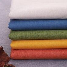 Tissu en lin uni doux 100x145cm, matériau de rembourrage Durable, bricolage, couture, Patchwork