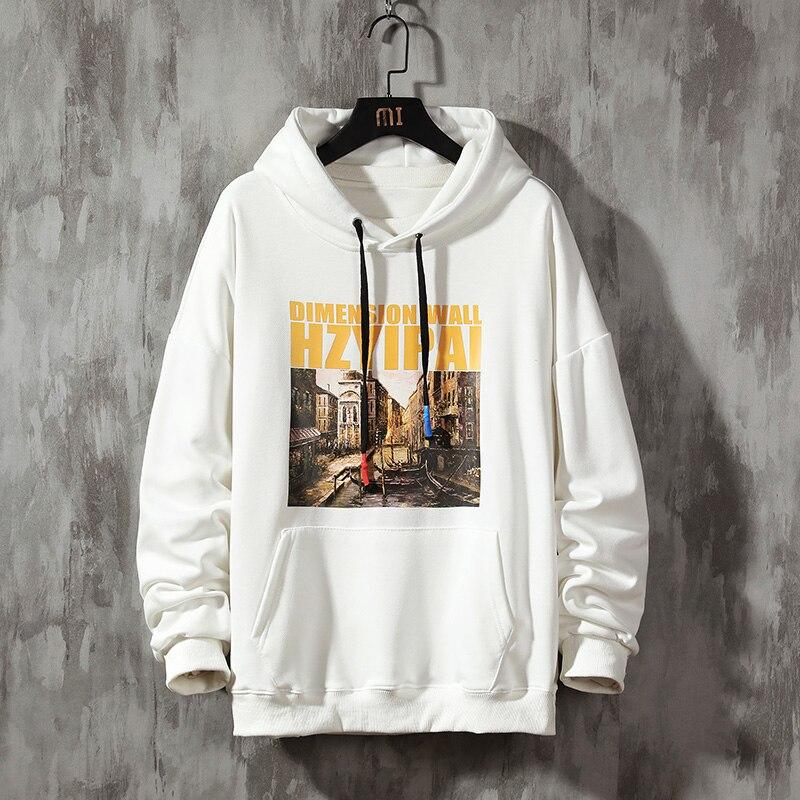 Streetwear Men Hoodies Sweatshirts Casual Hooded Sweatshirt Men 2020 Spring Printing Pullover Hoodies