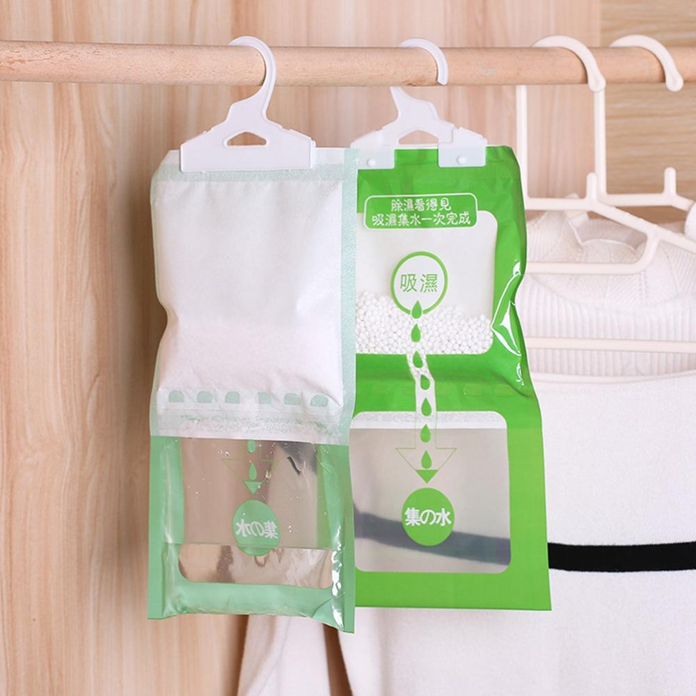10Pcs Household Hanging Wardrobe Anti-Mold Desiccant Room Dehumidifier Hygroscopic Moisture Bag Closet Cabinet Drying Agent Bags