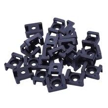 Винтовой кронштейн крепление седла основы кабельные стяжки кронштейн 23 мм x 16 мм 30 единиц черный