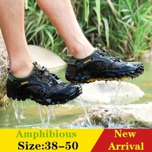 Amphibious-Shoes Mesh-Sneakers Reef Wading Fishing Rubber-Sole River Cool Hiking Non-Slip-Sea