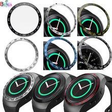 Capa de relógio de aço inoxidável, para samsung gear sport, moldura de anel, capa adesiva anti-arranhão para samsung gear s2 SM-R720