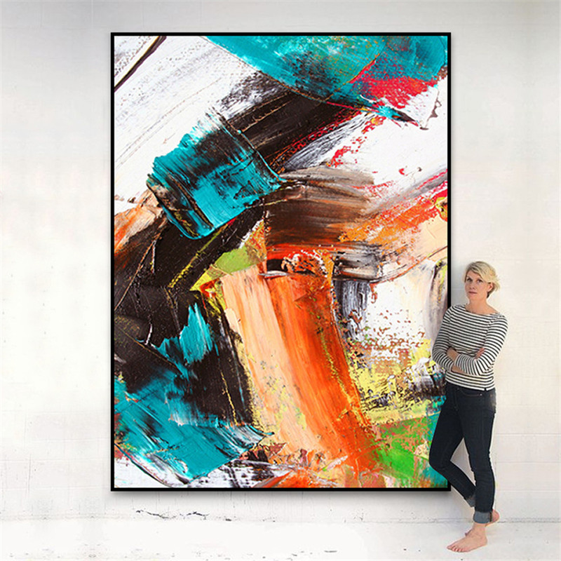 Large size colorful modern abstract canvas painting living room dining bedroom home decoration wall art