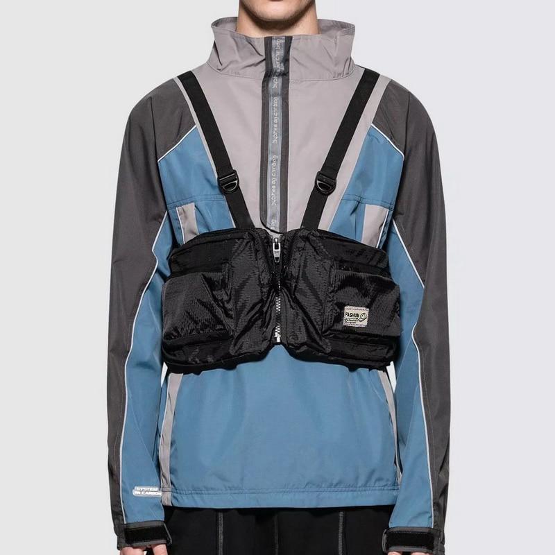 Functional Tactical Chest Rig Bag For Men Streetwear Vest Chest Bags Adjustable Trend Unisex Tooling Sling Hip Hop Vest Bag