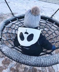 Image 4 - Girlymax niños línea de ropa amigos panda snowsuit niños ropa Niñas Ropa familia juego ropa estilo coreano