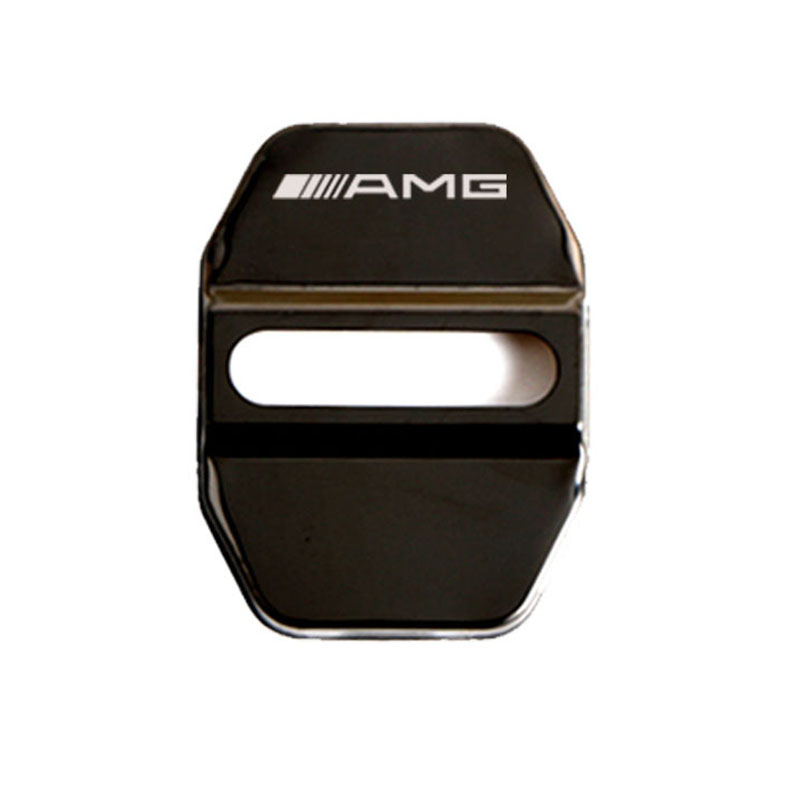 lowest price 4pc Door Lock Decoration Protection Cover Emblem case For Mercedes-AMG With Logo Stainless Steel Door Lock Cap Car styling