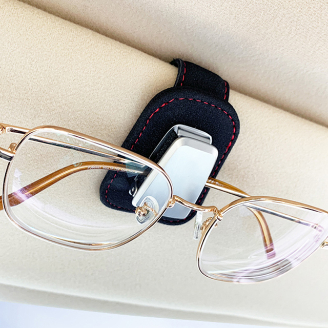 Portable Car Glasses Cases Ticket Card Clamp Car Sun Visor Sunglasses Holder For chrysler 300c 200 pacifica 6