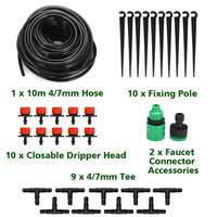 1 Set 10M DIY Micro Drip Irrigation System Plant Automatic Self Watering Garden Hose Kits with Connector Adjustable Dripper|Watering Kits|   -
