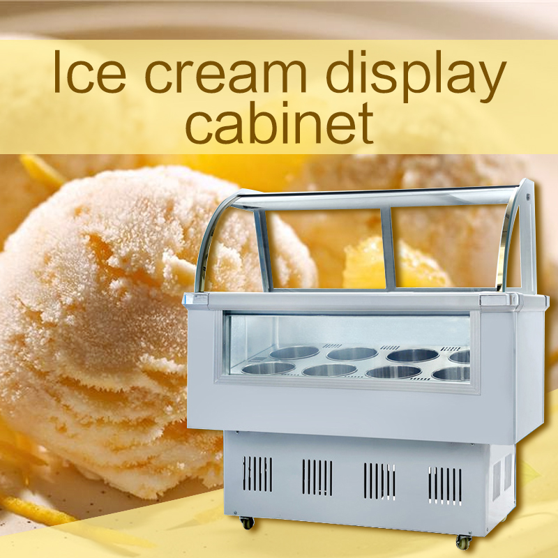 Intelligent Freezing Refrigeration Ice Cream Showcase Hard Ice Cream Freezer Commercial Ice Cream Cabinet Display Cabinet