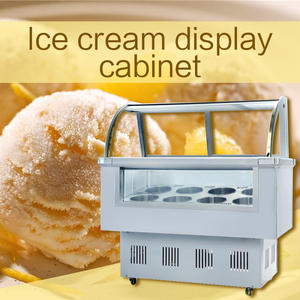 intelligent freezing refrigeration Ice cream showcase Hard ice cream freezer Commercial