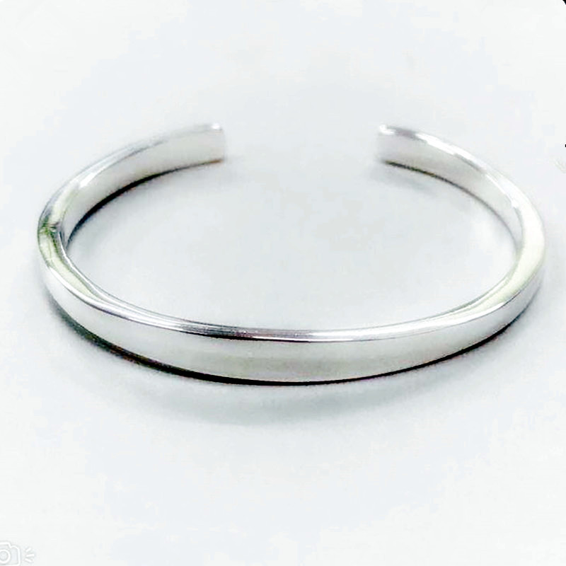 XIYANIKE 925 Sterling Silver New Fashion Glossy Solid Bracelets Bangles For Women Adjustable Handmade Charm Jewelry Gifts 3