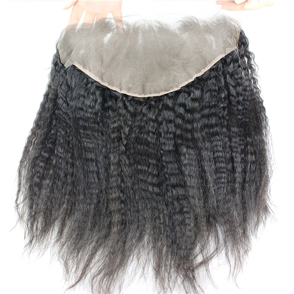 Transparent Lace Frontal 13x6 Kinky Straight Human Hair Lace Frontal Closure For Women Brazilian Remy Hair Lace Frontal Eseewigs