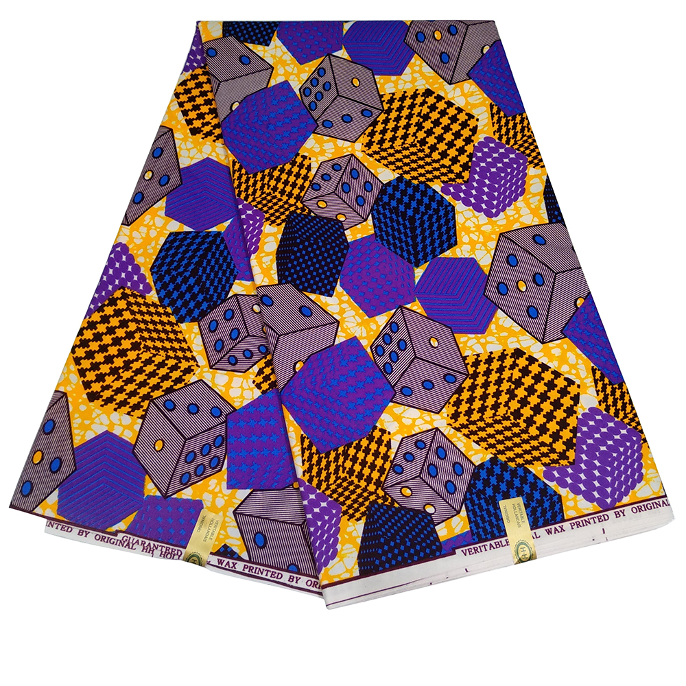 Wholesale Guarantted Quality Printed Fabric Real Wax Holland African Wax Prints Fabric Free Shipping Y622
