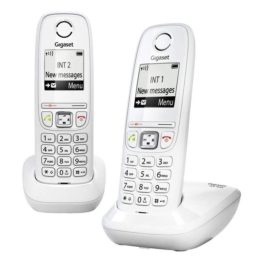 GIGASET Телефон DECT AS405 DUO Blanco