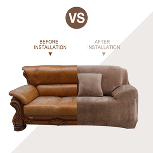Image 3 - чехол для дивана эластичная плюшевая ткань для гостиной эластичное кресло с чехлом 1/2/3/4 места в наличии сплошное и с принтом