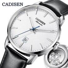 Cadisen Mechanische Horloge Mannen Top Brand Luxe Lichtgevende Rvs Business Pols Mannen Automatische Horloges NH35A Japan Beweging