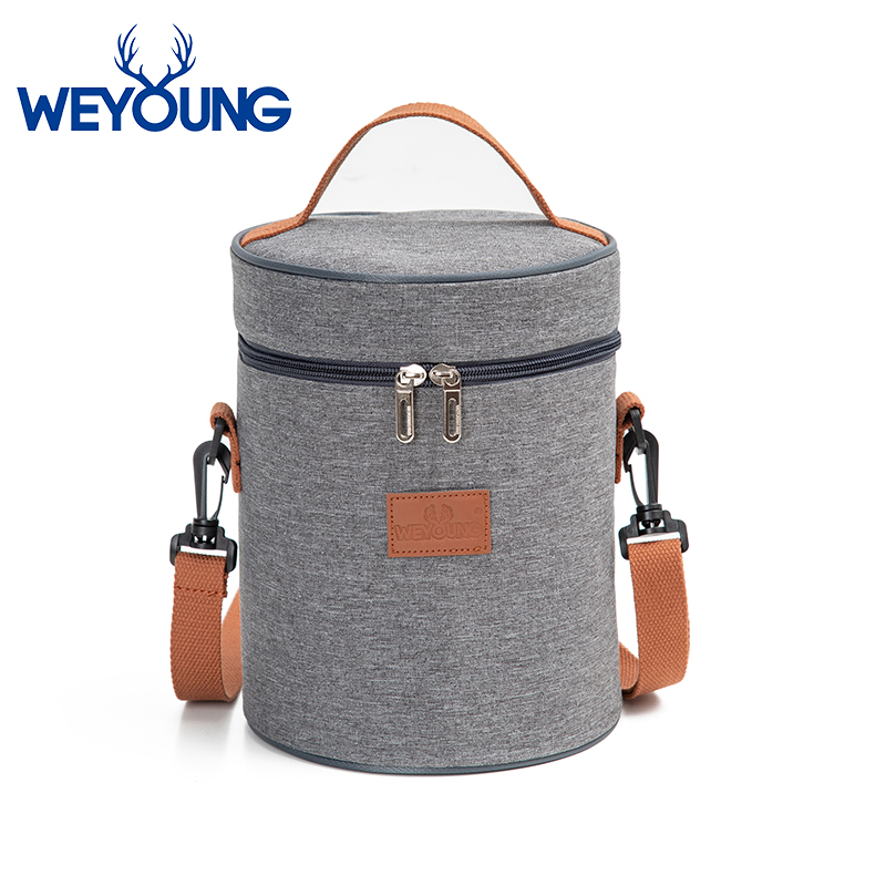 Solid Color Waterproof Nylon Portable Zipper Lunch Bags Women Student Lunch Box Thermo Bag Office School Picnic Cooler Bag Bolso