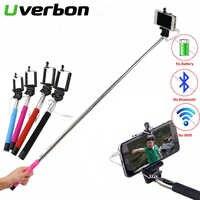 Mini trípode monopié con Cable plegable Selfie Stick Cable extensible incorporado palo de obturador para Iphone Samsung Huawei