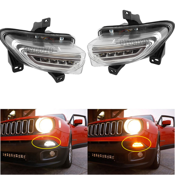 LED Headlight fog lights For Jeep Renegade 2015-2018 DRL headlights fog light daytime running lights driving lights foglights beler 2pcs 9 led front fog light lamp drl daytime running driving lights for infiniti g37 jx35 nissan altima maxima maxima rogue