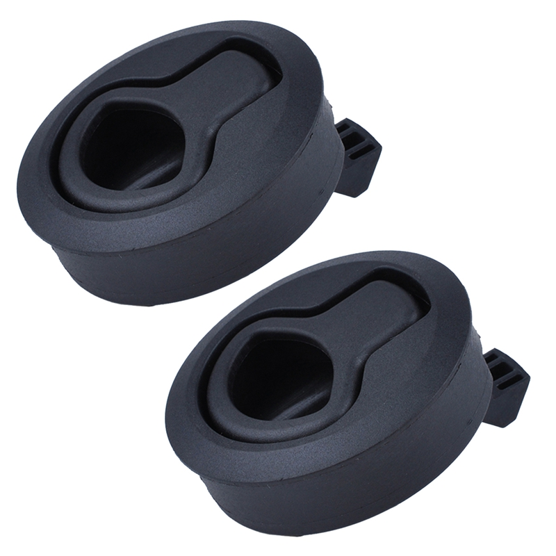 2Pcs New Black 2 Inch Flush Pull Slam Latch for Boat Deck Hatch 1/4 Inch Door Locking Style for RV Trailer Ship(China)