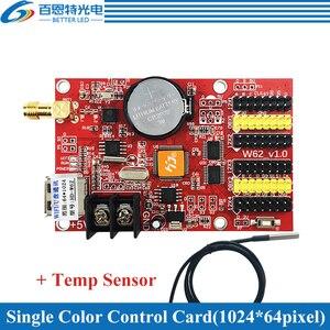 Image 3 - HD W62 USB + Wifi 4 * HUB12 2 * HUB08 couleur unique (1024*64 pixels) et double couleur (512*64 pixels) LED carte de contrôle daffichage