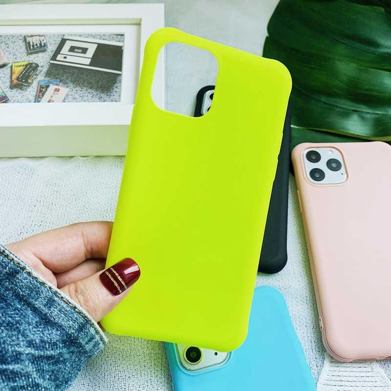 Huỳnh Quang Màu Neon Chống Kích Mờ Mềm TPU Dẻo Silicone Ốp Lưng Điện Thoại Tiểu Mi Mi 9T A3 Đỏ mi Note 7 7A 8 K20 Pro Coque