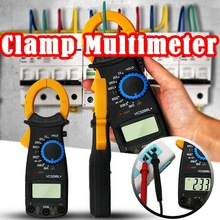 New Digital Current Clamp Ammeter AC DC Voltmeter Tester VC3266+ Electrical Multimeter Clamp FireWire Identify Mini Meter Clamp mastech ms2008a mini digital display clamp meter