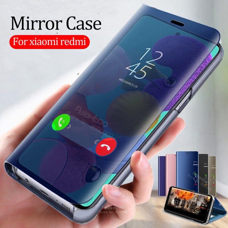 Espelho inteligente caso da aleta para samsung galaxy a51 telefone capa no samsun a71 2019 a515f a715f a 51 71 suporte flip book funda coque