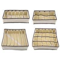 Portable Foldable Durable Divider Storage Box Case Container For Bra Underwear SockCloset Organizer Ropa Interior Organizador