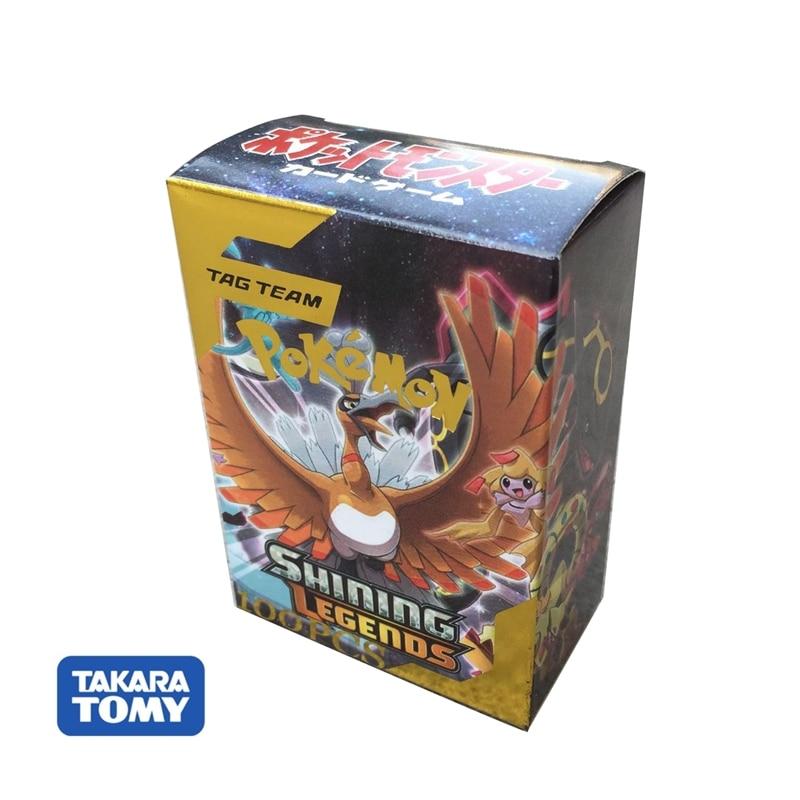 100pcs Pokemon Cards New Version TAG TEAM Takara Tomy Trading FlashCard Game Kids Toys