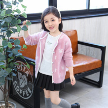 2019  New Children Sweaters Girls Cardigans Fashion Winter Clothing