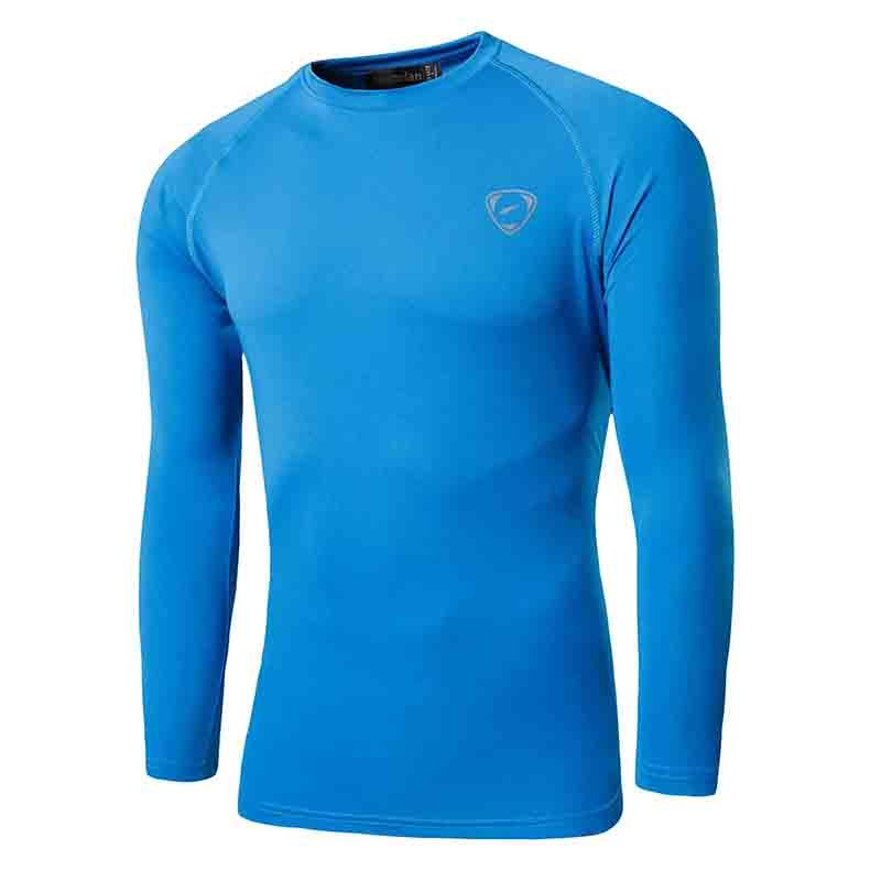 50 UPF + Proteção UV Sol Ao Ar Livre dos homens Jeansian T Tshirt da Camisa de Manga Comprida T-Shirt Da Praia do Verão LA245 OceanBlue2