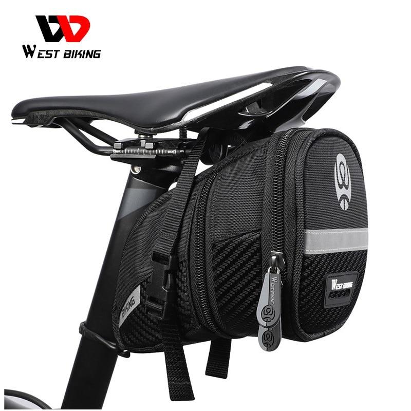WEST BIKING Bicycle Bag Bike 3D Shell Storage Saddle Bag Seat Cycling Tail Rear Pouch Bag Saddle Reflective Bike Accessories