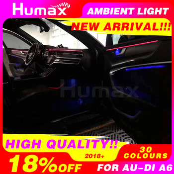 30 color Ambient light For Audi A6  Atmosphere advanced light decoration lamp car interior asseccories