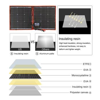 Dokio Flexible Foldable Solar Panel High Efficience Travel & Phone & Boat Portable 12V 80w 100w 150w 200w 300w Solar Panel Kit 3