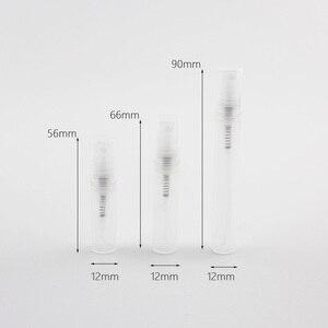 Image 5 - Mini botella de Spray de plástico vacía de niebla de Perfume de 2ml 3ml 5ml, botella de pluma de muestra, atomizador de Perfumes pequeños, contenedor de Vial de pulverizador de 2cc
