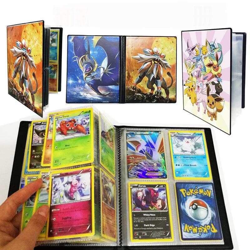 original-takara-tomy-font-b-pokemon-b-font-cards-holder-pokecard-album-shining-cards-book-200pcs-gx-no-repeat-game-collection-cards-box