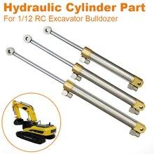 Pièce de cylindre hydraulique, 55/75MM/90MM, course, pour excavatrice RC 1/12 Bulldozer, pièces de voiture Huina
