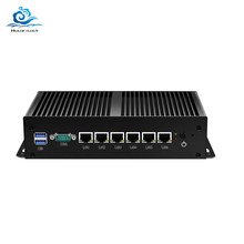 HLY 6*1000Mbps LAN Mini PC Intel Core i3 7100U Celeron 3955U 3855U Router Firewall Linux Windows 10 Fanless MiniPC Computer(China)
