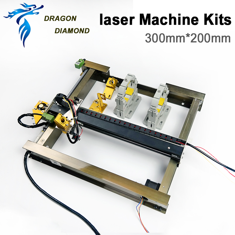 Co2 Laser Mechanical Components Complete Kit 200*300mm For Laser Cutting Machine Mini DIY Machine Homeworker