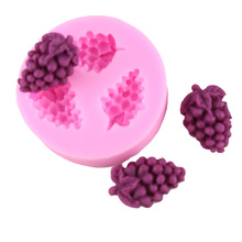 Grape Shape Silicone Mold 3D Craft Soap Moulds Fondant Cake Decorating Chocolate Candy Gumpaste Clay Molds