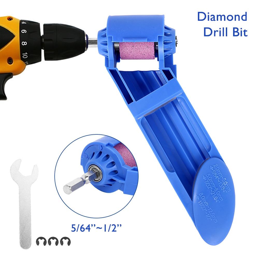 2-12.5mm Portable Drill Bit Sharpener Tool Electric Drill Grinder Corundum Grinding Wheel Drill Polishing Drill Bit Powered Tool