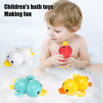 New Baby Cute Toy Solid Swimming Little Duck Wind Up Animal Bath Toys Set Bath Bath Pool Interesting Toy недорого